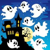 Ghost theme image 2 — Stock Vector