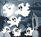 Ghost thema bild 4 — Stockvektor