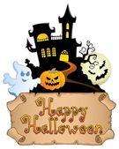 Imagen de tema halloween feliz 4 — Vector de stock