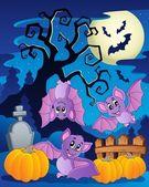 Szene mit Halloween Baum 5 — Stockvektor