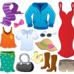 Clothes theme collection 1 — Stock Vector #12202472