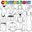 Coloring book clothes theme 1 - Stock Vector