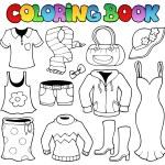 Coloring book clothes theme 1 — Stock Vector #12202532
