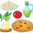 Stock Vector: Italian food collection 1