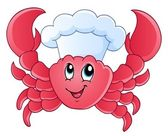 Cartoon crab chef — Stock Vector