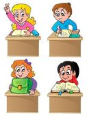 School pupils theme image 1 — Stock Vector