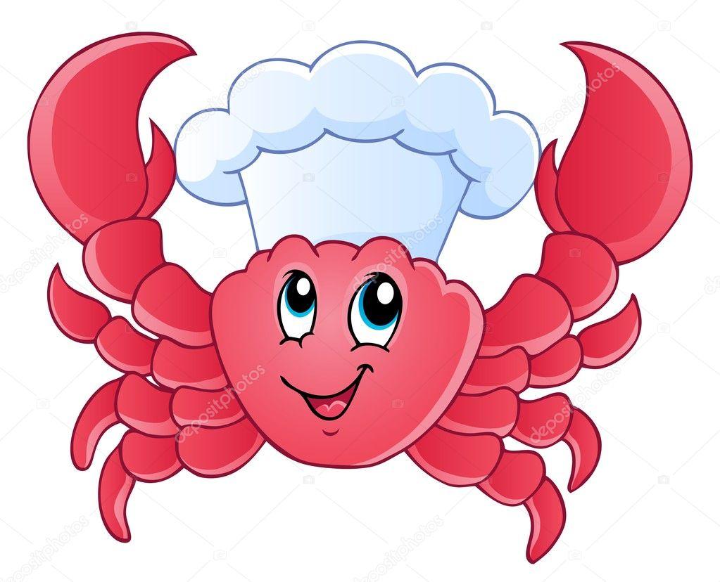 Cocinero de dibujos animados cangrejo vector de stock - Dibujos de vinilo para paredes ...