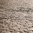 Old cobblestone road — Stock Photo