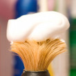 Man's accessories - shaving brush — Stock Photo