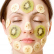 Fruity Face Treatment — Stock Photo