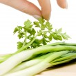 Salad preparation — Stock Photo