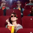 Cinema audience — Stock Photo