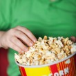 Popcorn and cinema — Stock Photo