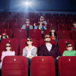 Enjoying the movie — Stock Photo