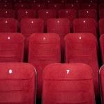 Empty cinema hall seats — Stock Photo