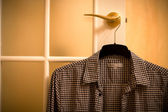Shirt on hanger — Foto Stock