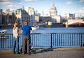 Thames embankment — Stock Photo