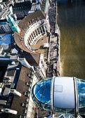 Londýnské oko — Stock fotografie