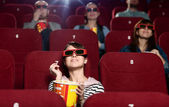 Cinema audience — Stock Photo