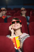 Group of at the cinema — Stock Photo