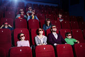 In 3D movie theater — Stock Photo