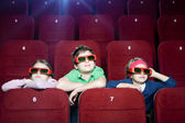 Kids in the movie theater — Foto Stock