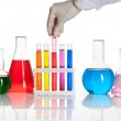 Set of chemical flasks and test tubes — Stock Photo #10960399