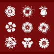 Royalty-Free Stock Vector Image: Design elements: Flowers (part2)