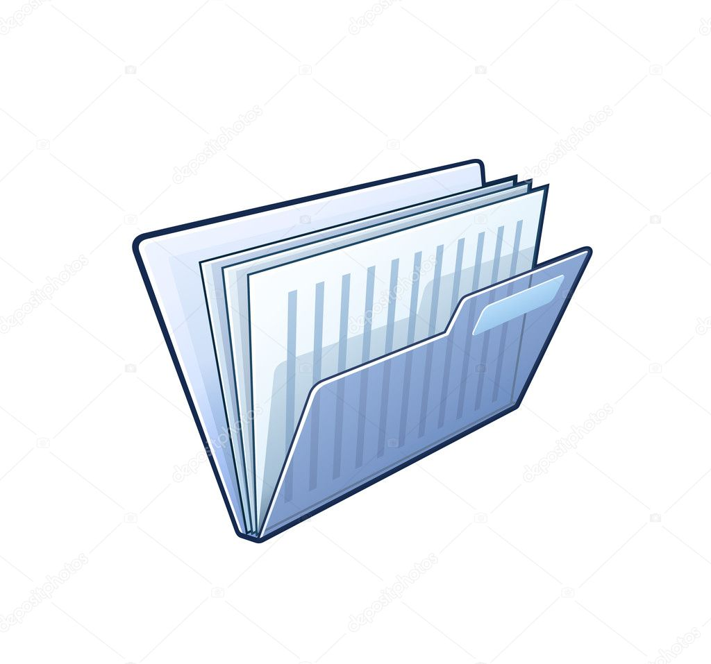 Folder with documents - detailed illustration isolated on white  Stock Vector #10960761