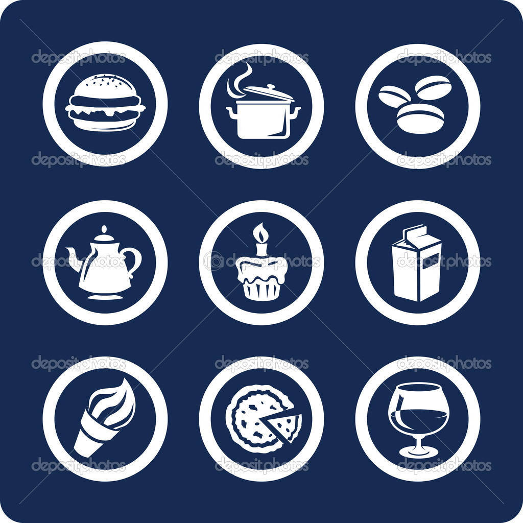 Food and Kitchen (9 icons - part1)  Stock Vector #10960826