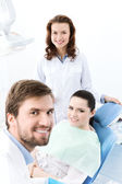 Prepairing to treat carious teeth — Stock Photo