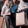 Delight after shopping — Stock Photo