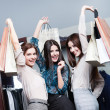 Three friends after shopping — Stock Photo #12160285