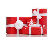 Boxes with Christmas presents — Stock Photo