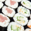 Sushi rolls close-up — Stock Photo
