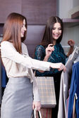 Women do shopping — Stock Photo