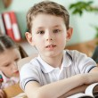 Little boy is in the school — Stock Photo #12287402