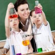 Royalty-Free Stock Photo: Little pupils study chemistry