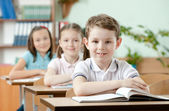 Pupils are very attentive at lessons — Stock Photo