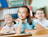 Pupils are happy to attend classes — Stock Photo