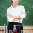 Smiley chemistry teacher — Stock Photo