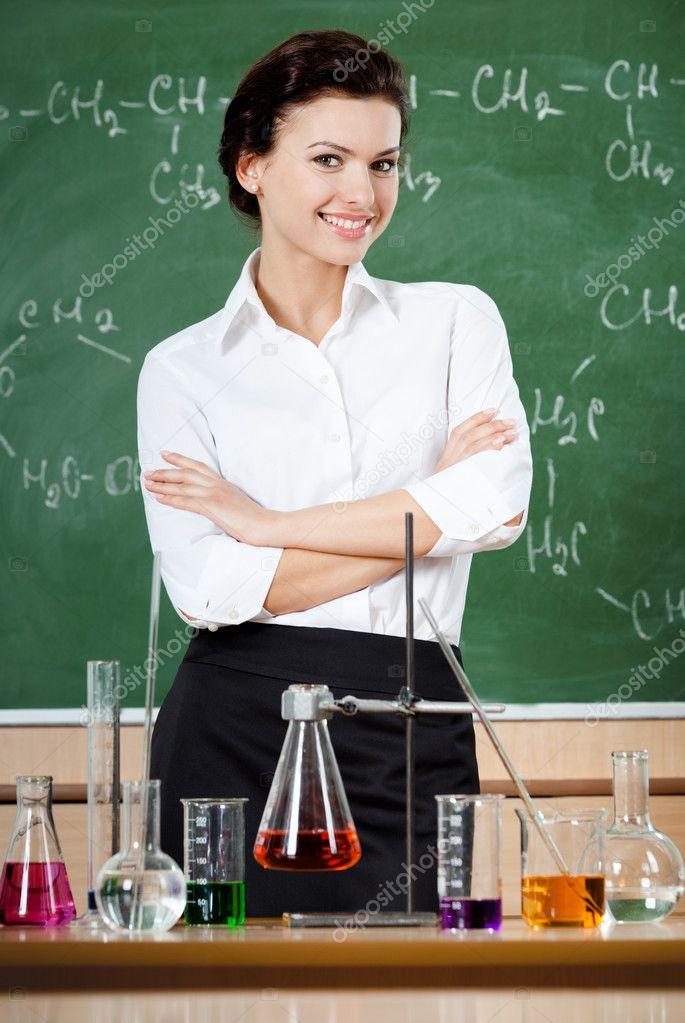 С красивой учительницей