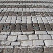 Abstract pedestrian stone road, safety details. — Stock Photo