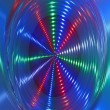 Stock Photo: Abstract disco light rotation, discotheque hurricane.