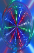 Abstract disco light rotation, discotheque hurricane. — Stock Photo