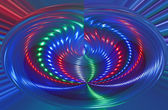 Abstract disco light rotation, discotheque. — Stock Photo