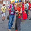 Sport fans from Spain and Italy communicate before final match. — Stock Photo #11443335