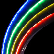 Stock Photo: Abstract rainbow lamps, modern disco details.