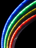 Abstract rainbow lamps, modern disco details. — Stock Photo