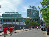 Fenway Park in Boston is the oldest professional sports venue in USA. — Stock Photo